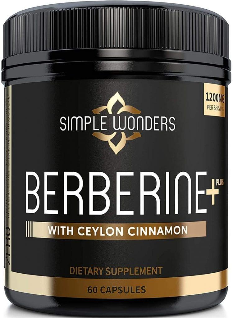 Berberine+ with Ceylon Cinnamon, from Simple Wonders
