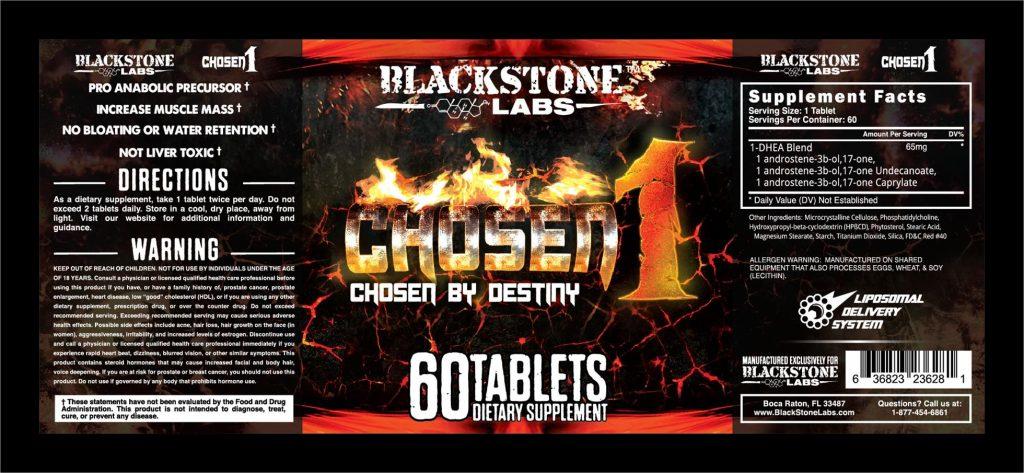 Blackstone Labs Chosen 1 label