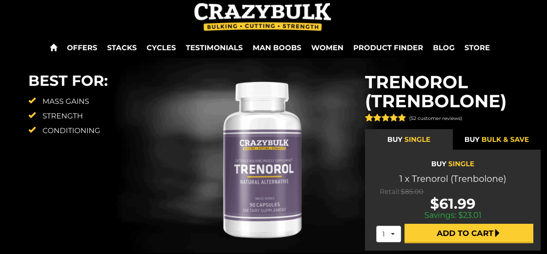 Crazy Bulk Trenorol Website