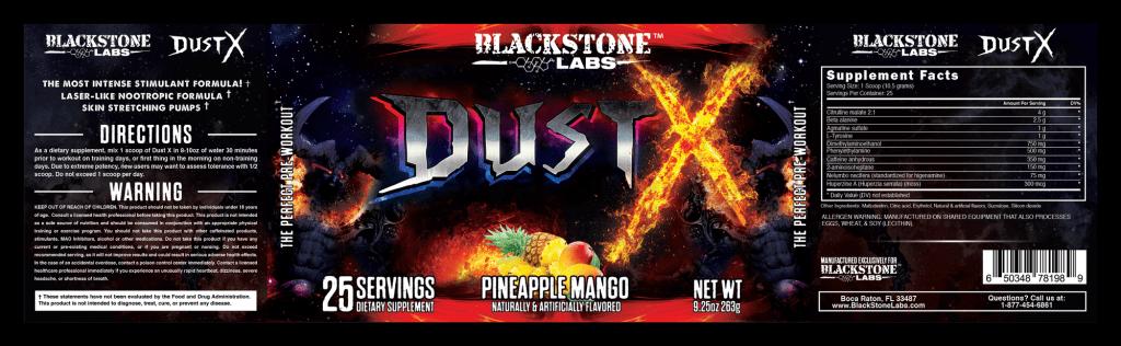 Dust X by Blackstone labs label