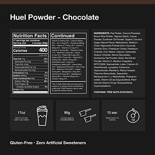 Huel Black Edition supplement facts