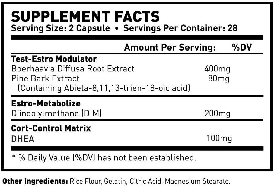 Nolvadren XT supplement facts