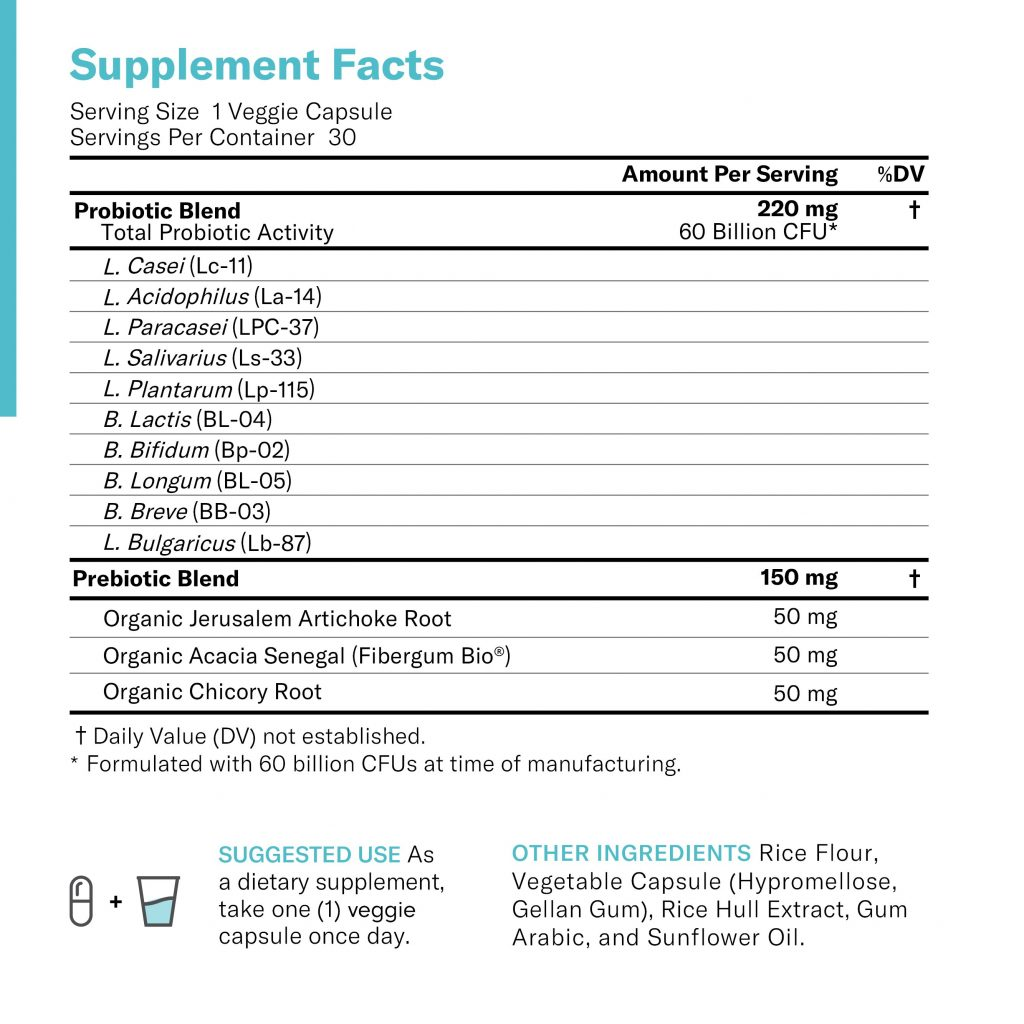 Physician's Choice Probiotic Supplement Facts