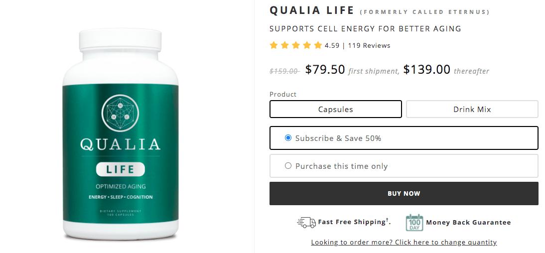 Where To Buy Eternus (Qualia Life)