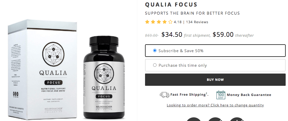 Where To Buy Qualia Focus
