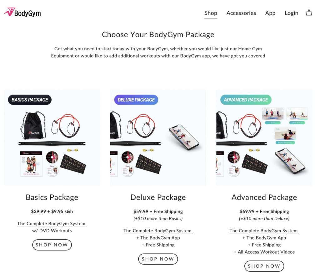 bodygym website