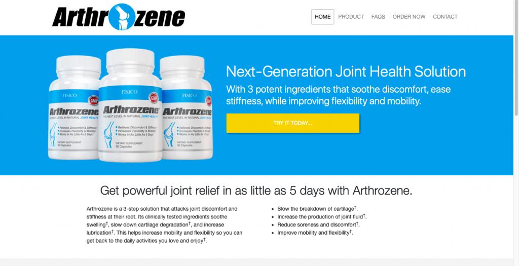 Arthrozene Website