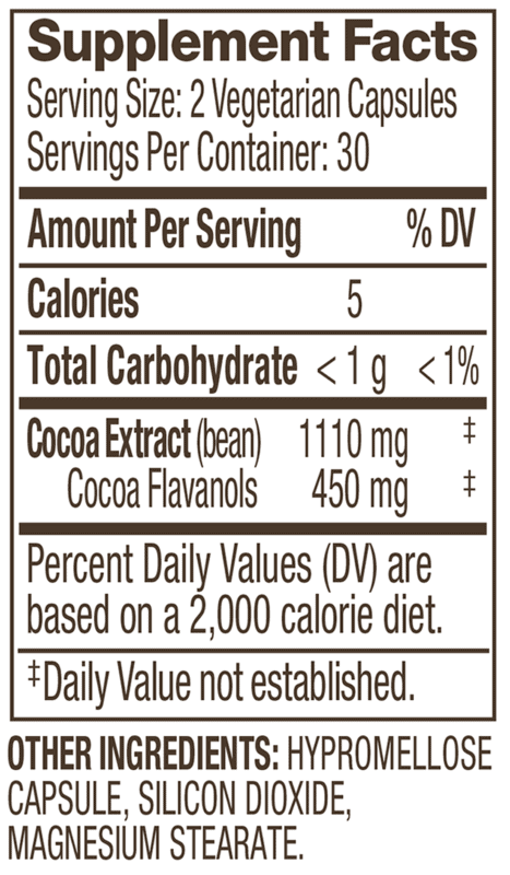 CocoaVia Supplement Facts