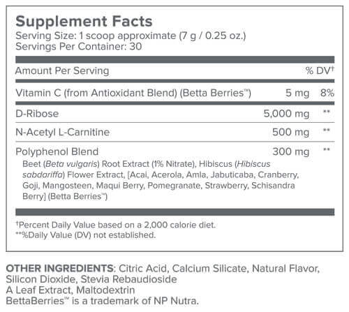 Energy Renew Supplement Facts