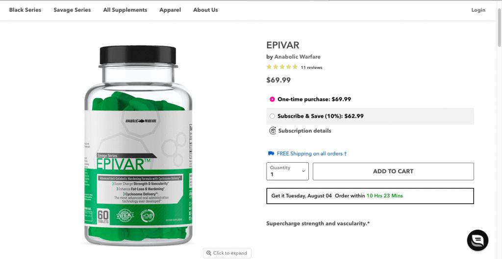 Epivar Website