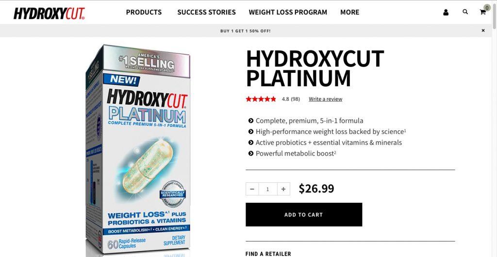 Hydroxycut Platinum Website