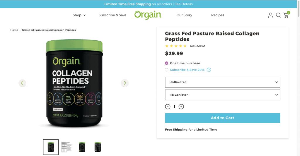 Orgain Collagen Peptides Website