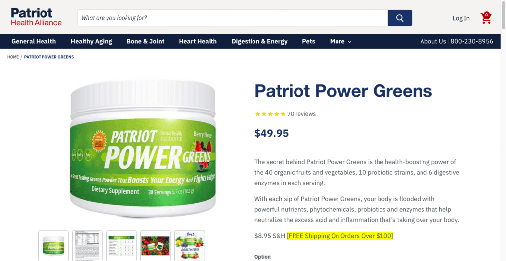 Patriot Power Greens Website