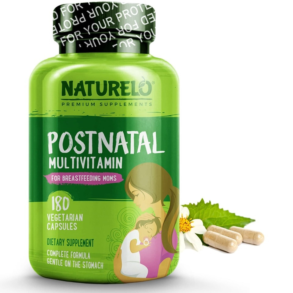 Postnatal Multivitamin for Breastfeeding Moms, from Naturello