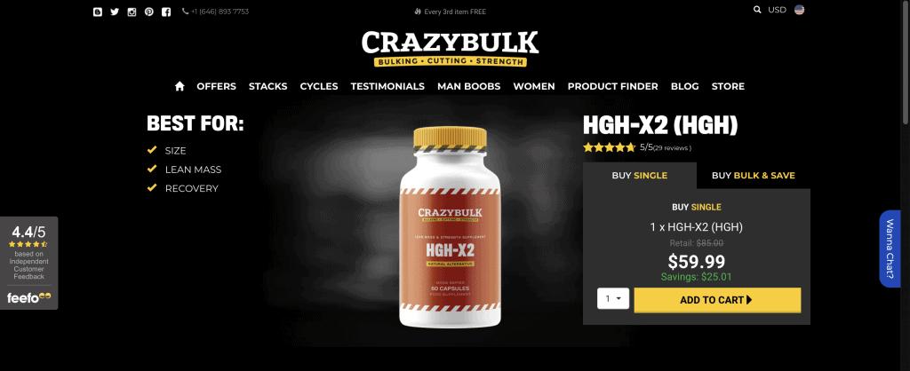 CrazyBulk HGH-X2 Website