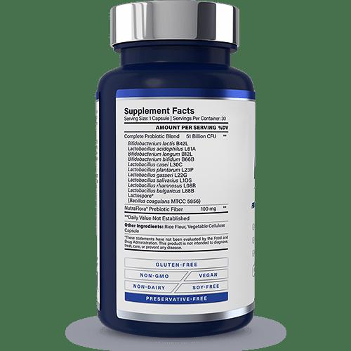 Complete Probiotics Platinum Supplement Facts
