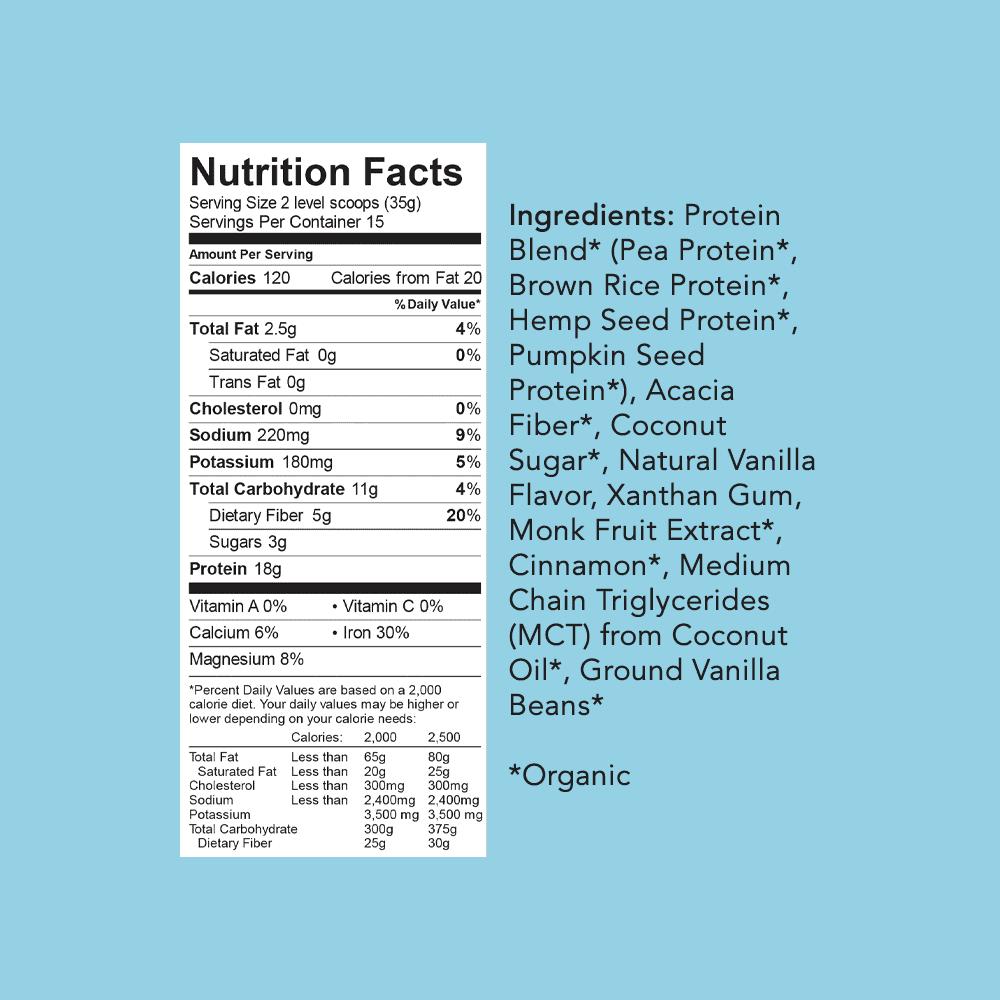 Aloha Organic Protein Powder Ingredients