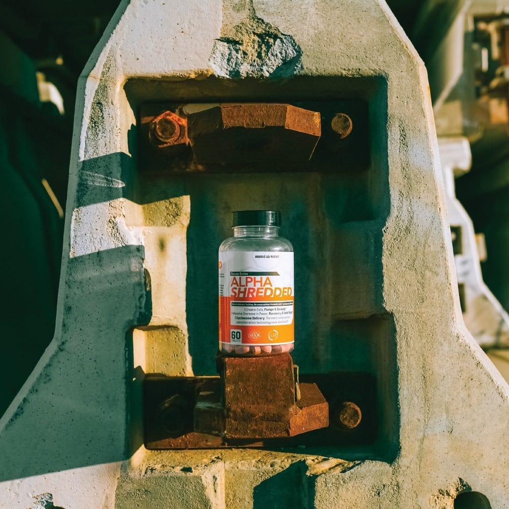 Alpha Shredded Supplement Bottle