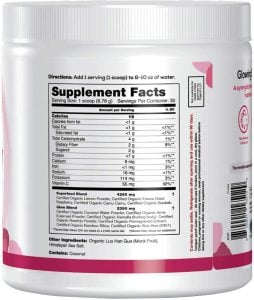 Organifi Glow Supplement Facts