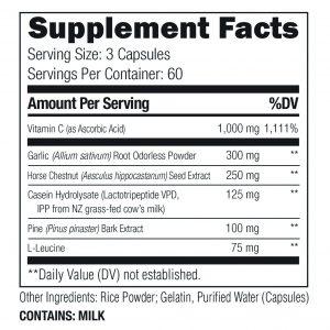Umzu Redwood Supplement Facts