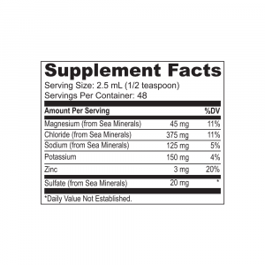 Adapted Nutrition Hi-Lyte Supplement Facts