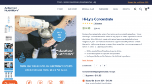 Adapted Nutrition Hi-Lyte Concentrate Website