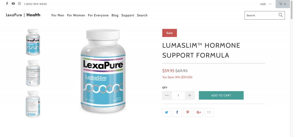 LexaPure LunaSlim Website