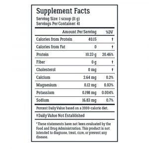 LiveWell Collagen Peptides Supplement Facts
