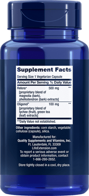Cortisol-Stress Balance Supplement Facts