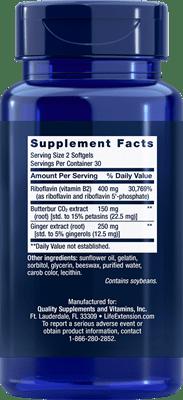 Life Extension Migra Eeze Supplement Facts
