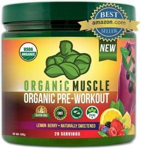 Organic Muscle Pre-Workout Powder