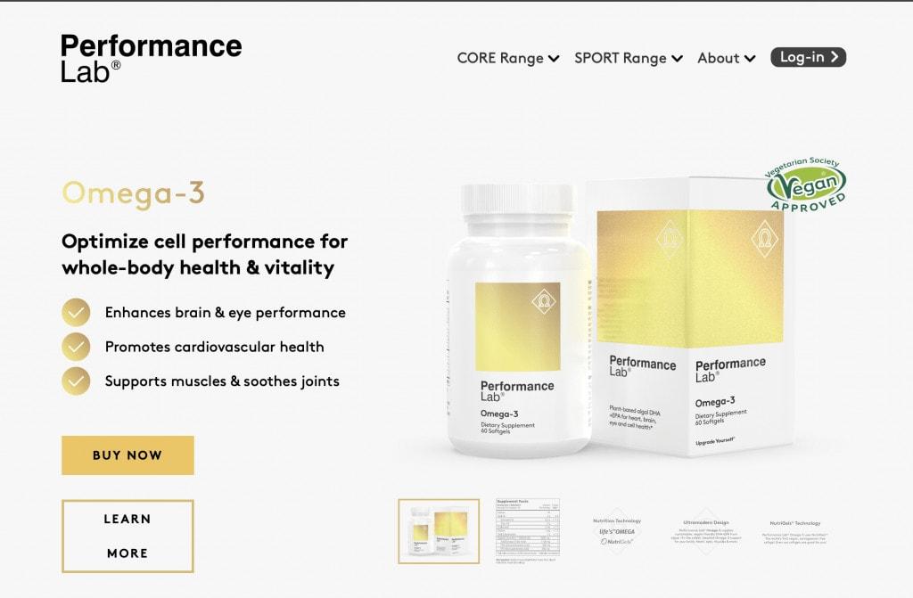 Performance Lab Omega-3 Website