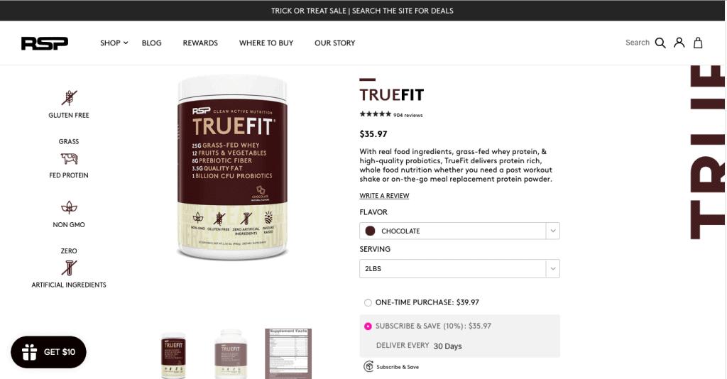 RSP TrueFit Website