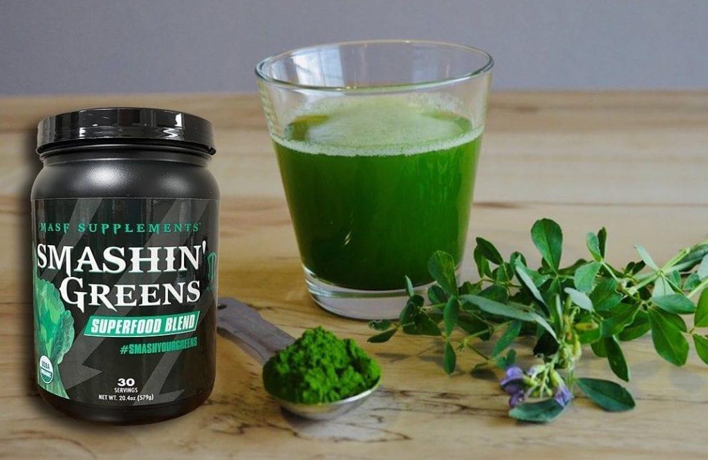 Smashin' Greens In A Glass