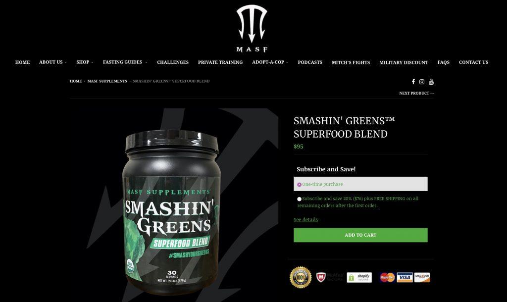 Smashin' Greens Website