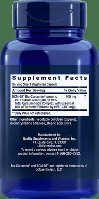 Super Bio-Curcumin Supplement Facts