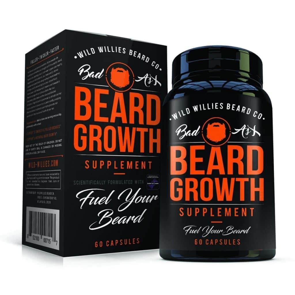 Wild Willies Beard Growth Supplement Bottle