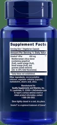 Life Extension Mediterranean Trim Supplement Facts