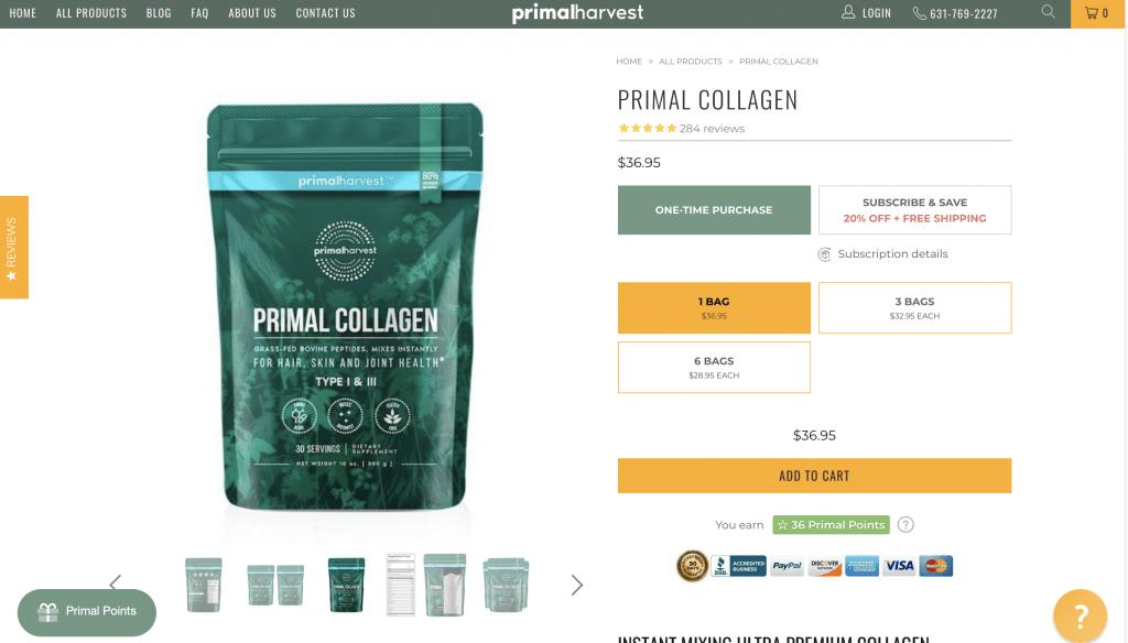 Primal Collagen Website