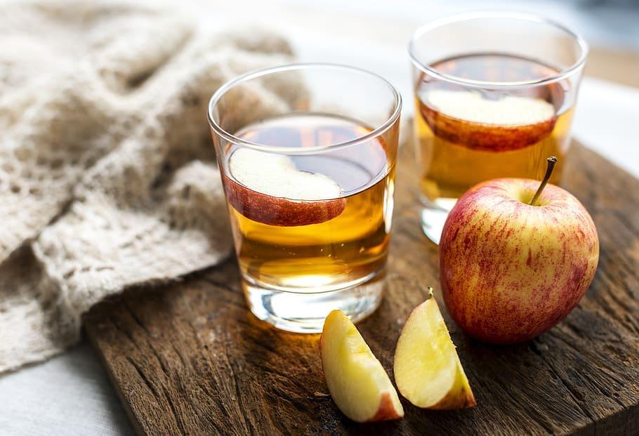 Apple Cider Vinegar in Glasses