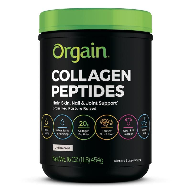 Orgain Grass Fed Pasture Raised Collagen Peptides