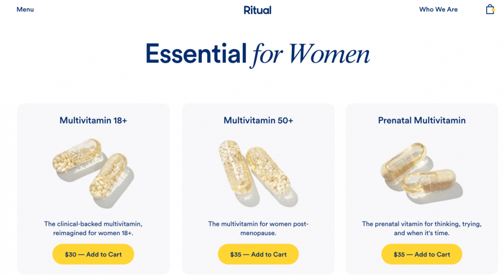 Ritual Vitamins Pricing