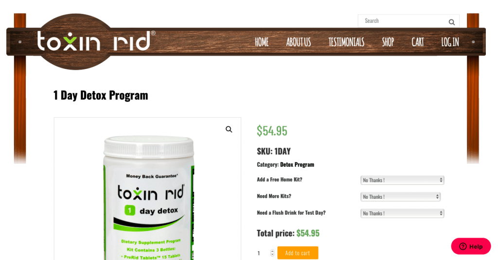 Toxin Rid Website