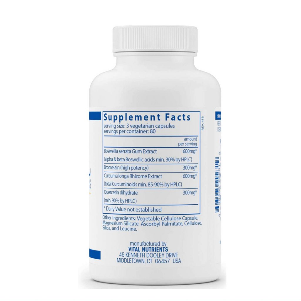 Vital Nutrients BCQ Supplement Facts