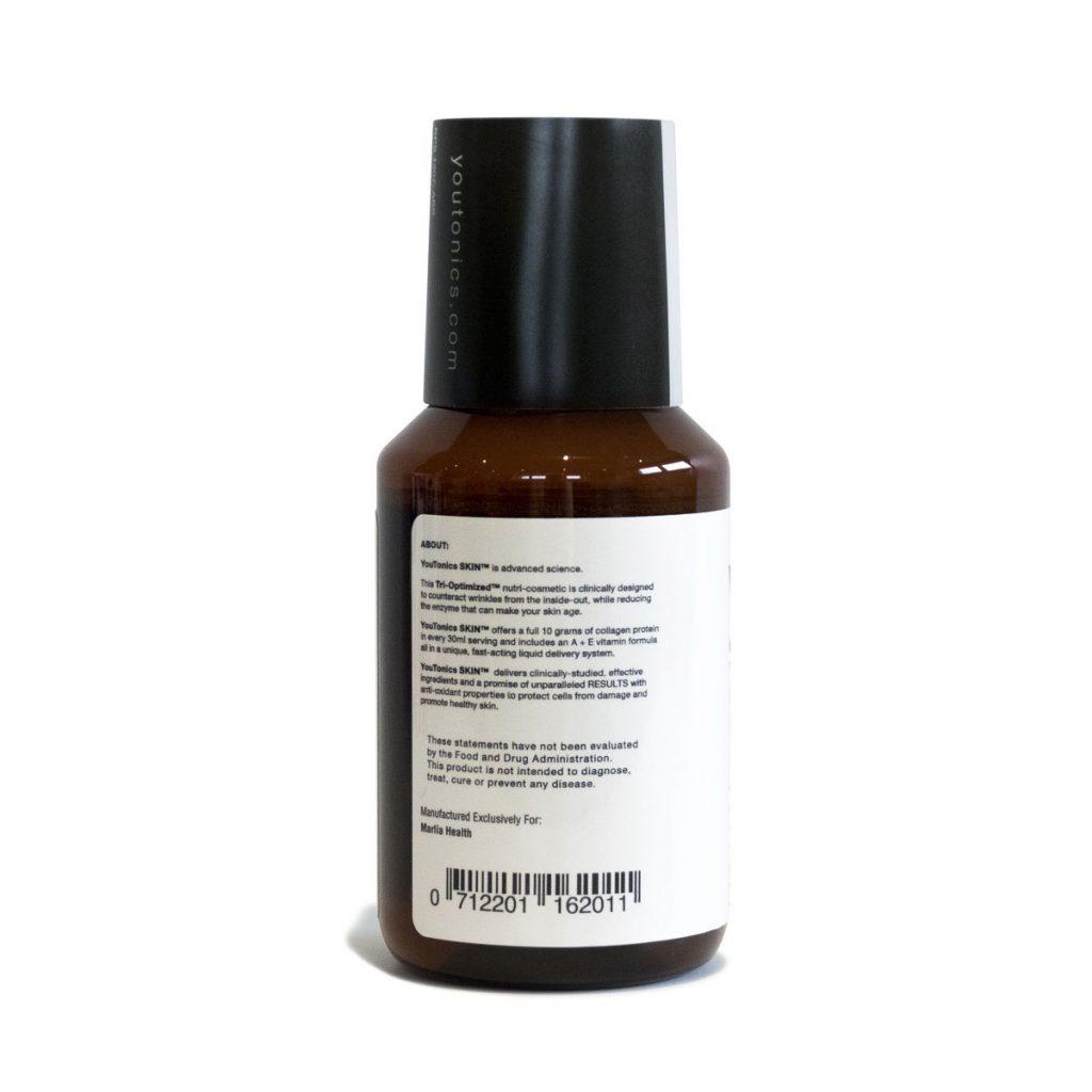 YouTonics Skin Collagen Renewal back label