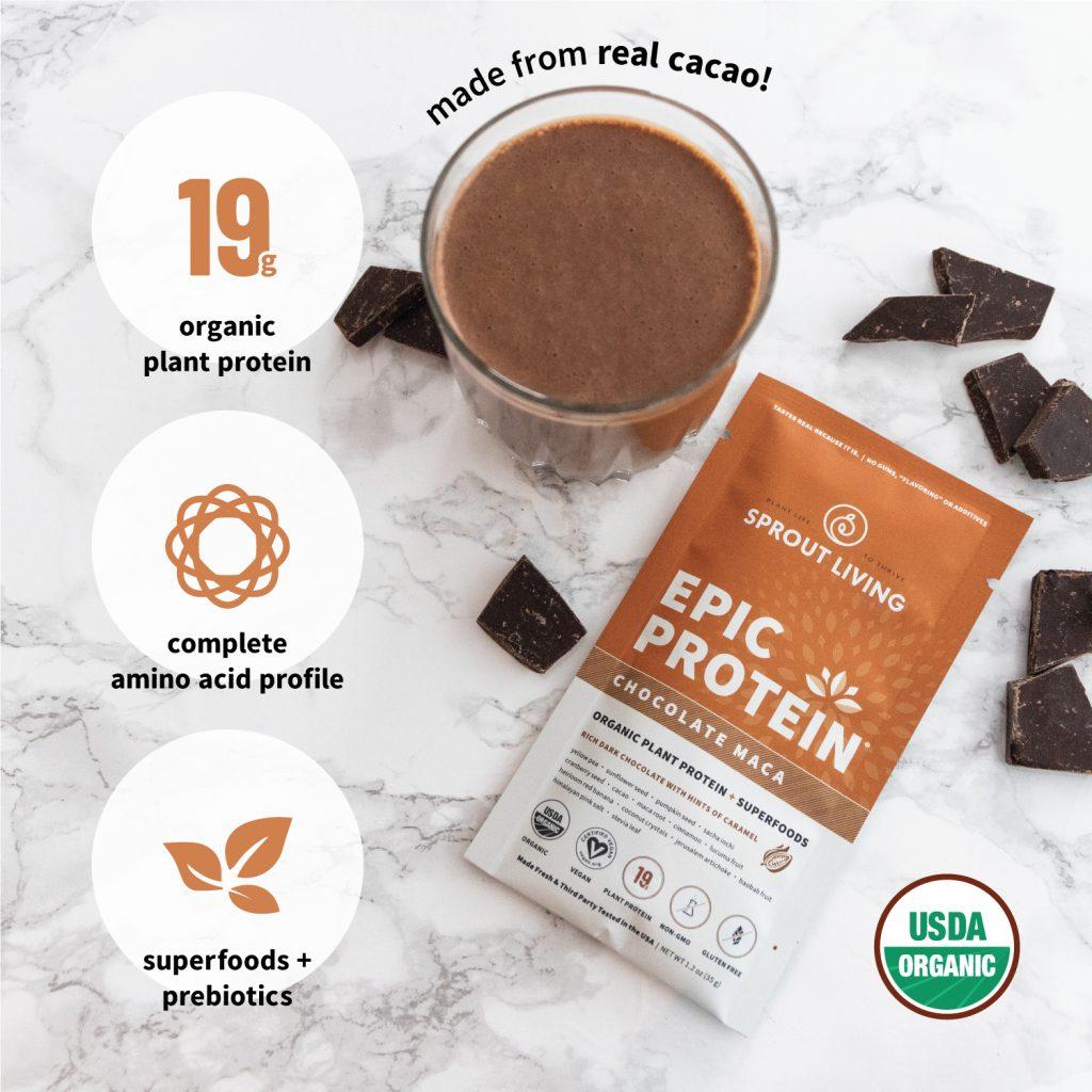 Epic Protein Chocolate Maca Shake