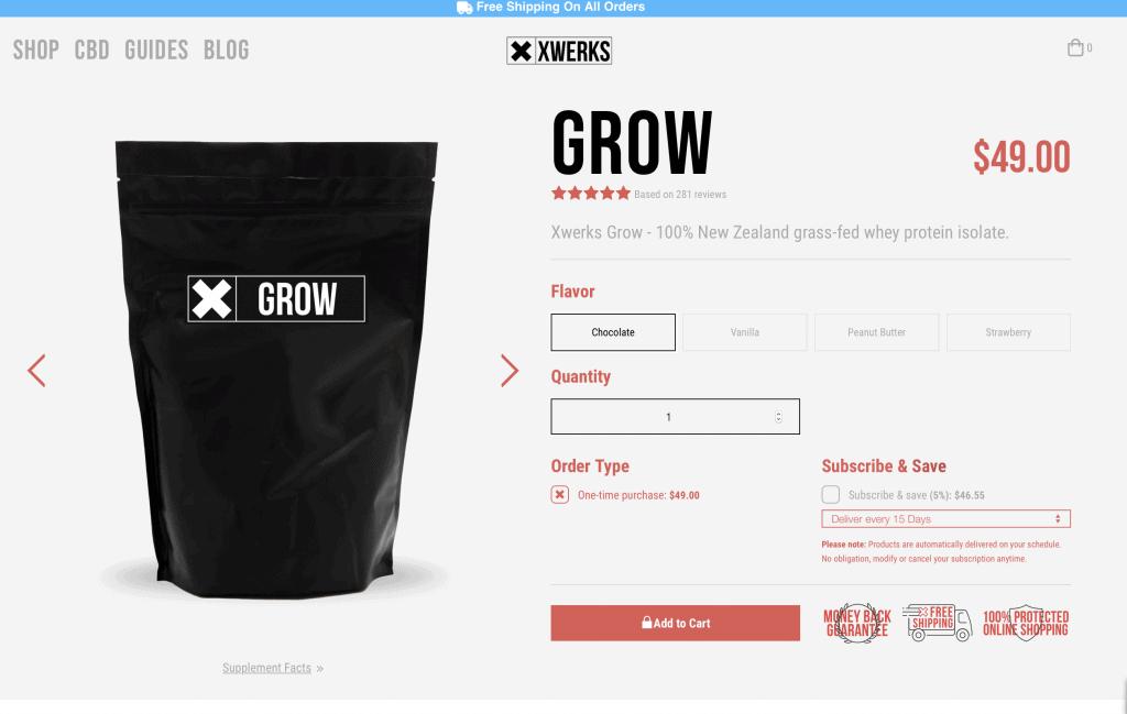 Xwerks Grow Website