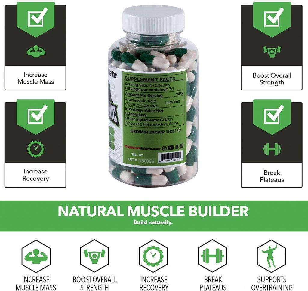 Enhanced Athlete Arachidonic Acid Labels