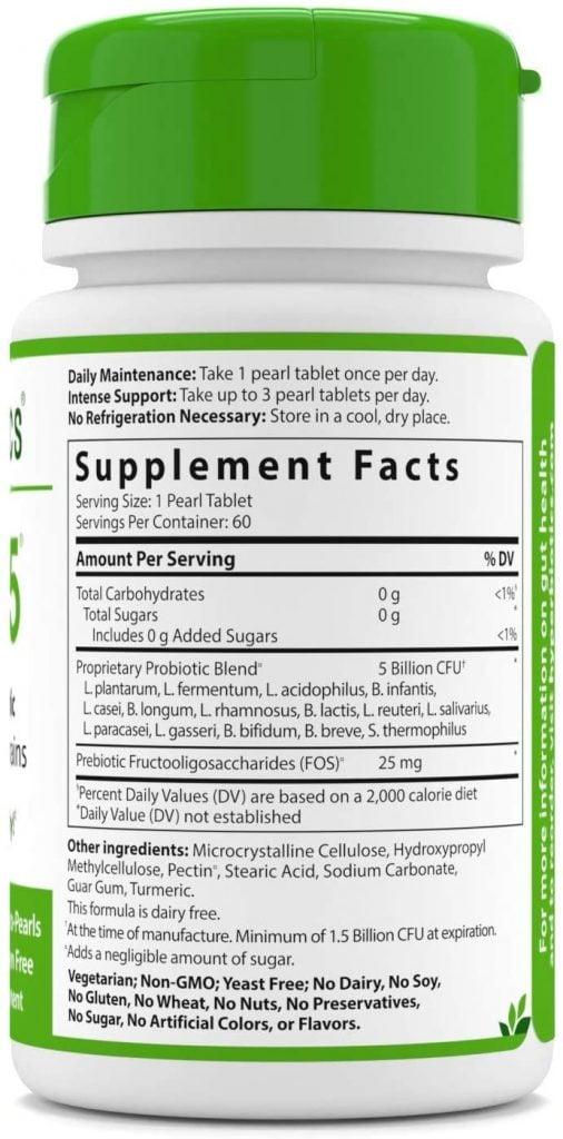 Hyperbiotics Pro-15 Supplement Facts