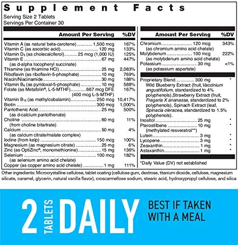 Klean Multivitamin Supplement Facts